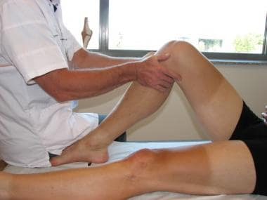Posterior drawer test for posterior instability.