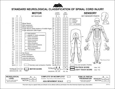American Spinal Injury Association (ASIA) standard