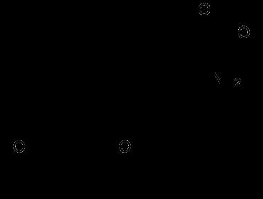 Thyroxine structural formula.