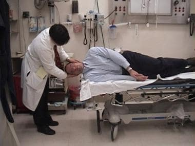 Epley maneuver. Ask the patient to turn onto his o