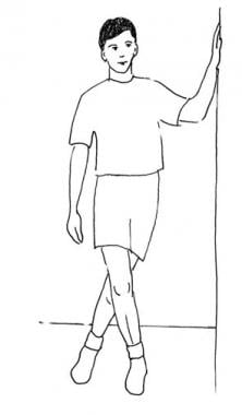 This illustration demonstrates active stretching o