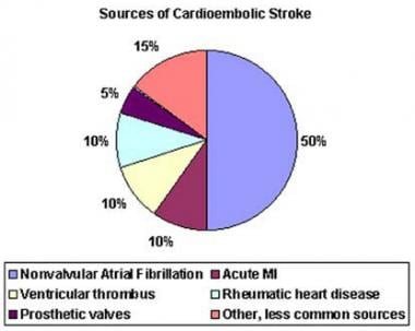 Sources of cardioembolic stroke.
