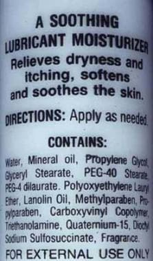 Most common moisturizers contain various additives