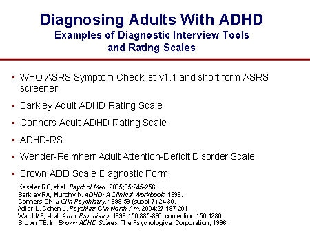 Adult ADHD Interview Form
