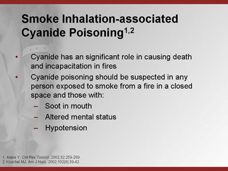 how to detect cyanide poisoning
