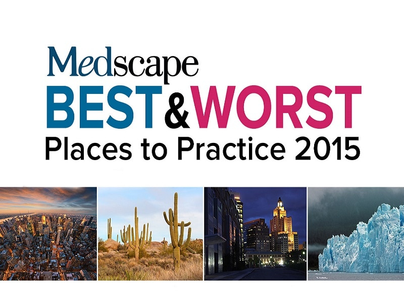 Medscape Best & Worst Places to Practice 2015