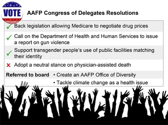 AAFP Votes on Gun Violence, Drug Prices, and Diversity