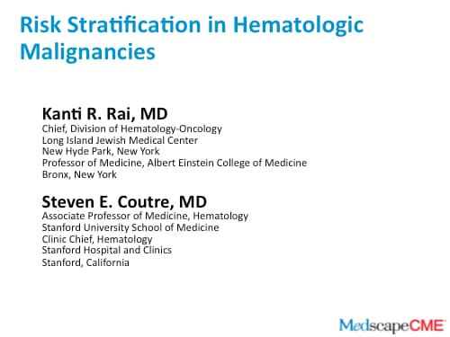 Risk Stratification in Hematologic Malignancies (Transcript)