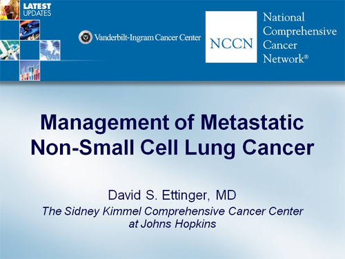 Management of Metastatic Non-Small Cell Lung Cancer (Transcript)