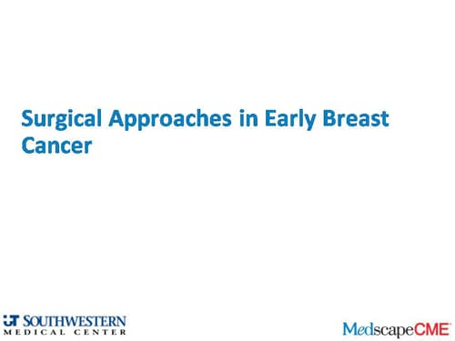 Early Breast Cancer: The Art and Science of Treatment