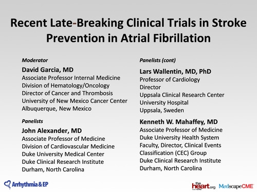 Stroke Prevention in Atrial Fibrillation: Recent Clinical Trials