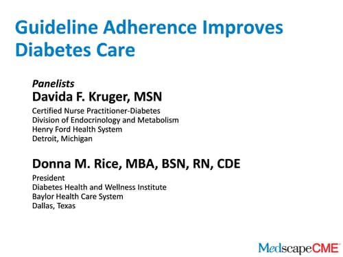Guideline Adherence Improves Diabetes Care (Transcript)