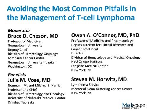T-cell Lymphoma Management: Avoiding the Common Pitfalls (Transcript)