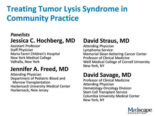 Treating Tumor Lysis Syndrome in Community Practice (Transcript)
