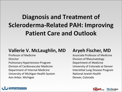 Diagnosis and Treatment of Scleroderma-Related PAH
