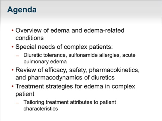 Edema in Complex Patients: Tailoring Treatment to the
