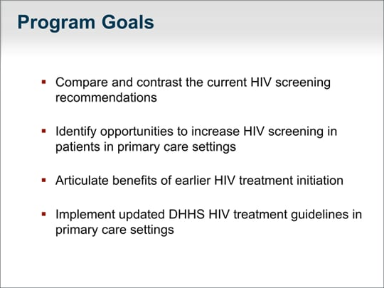 HIV in Primary Care: Routine Screening, Earlier Treatment (Transcript)