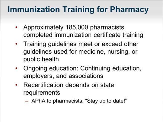 Building the Immunization Neighborhood: The Role of the Pharmacist ...