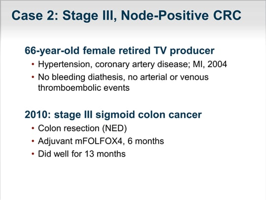 Clinical Decision Making In Patients With Metastatic Colorectal Cancer Transcript