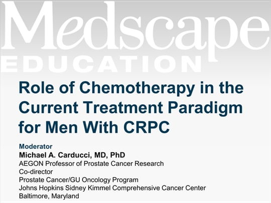 Role of Chemotherapy in the Current Treatment Paradigm for Men With