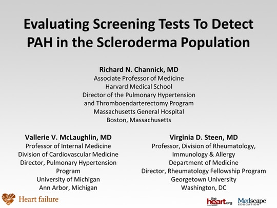 Evaluating Screening Tests To Detect PAH in the ...