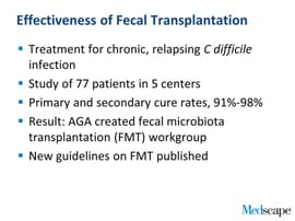 Fecal Transplantation for C difficile: A How-To Guide