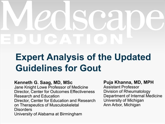 Expert Analysis of the Updated ACR Guidelines for Gout