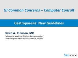 Gastroparesis New Guidelines