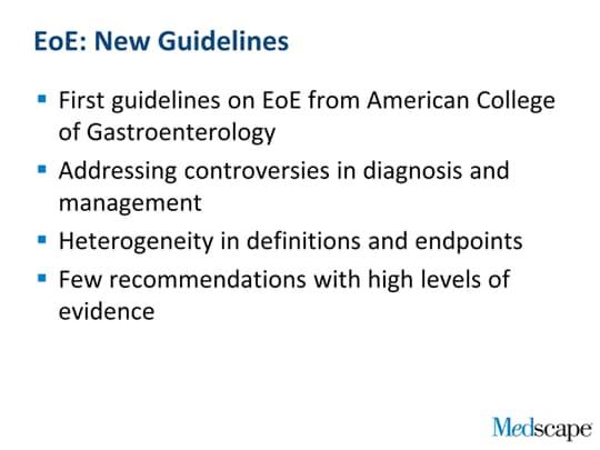 Eosinophilic Esophagitis New Guidelines