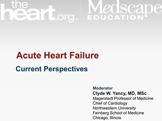 Acute Heart Failure: Current Perspectives
