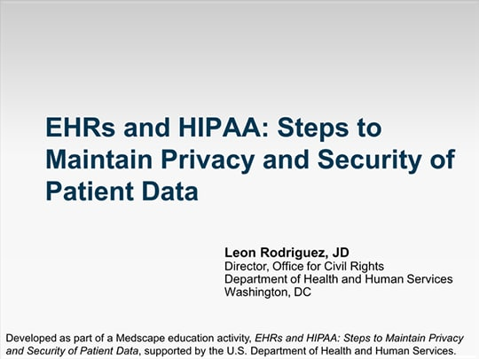 Ehrs And Hipaa Steps For Maintaining The Privacy And Security Of