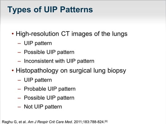 Demystifying Idiopathic Pulmonary Fibrosis The Art And The Science Amazing Uip Pattern