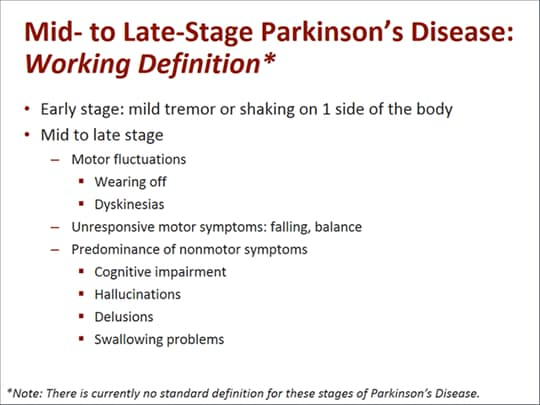 Parkinsons Disease Stages >> Advanced Parkinson's Disease: Shared Treatment Decisions and Patient Advocacy (Transcript)