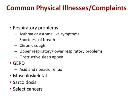 Airway, Digestive, and Mental Health Comorbidities in WTC