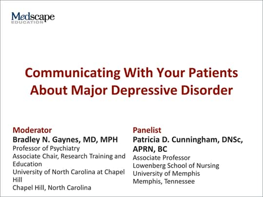 Communicating With Your Patients About Major Depressive ...