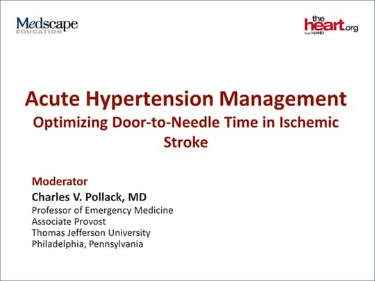 Acute Hypertension Management Optimizing Door To Needle