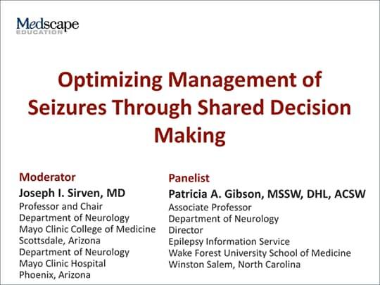 Optimizing Management of Seizures Through Shared Decision
