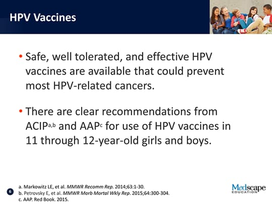 Preventing HPV-Associated Disease: Targeting an Adolescent
