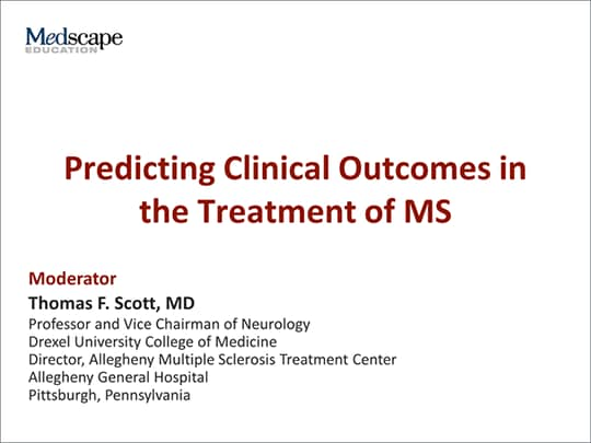 Predicting Clinical Outcomes in the Treatment of MS (Transcript)