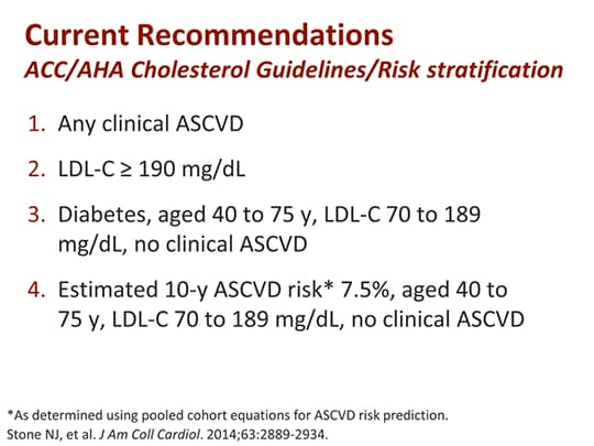 acc aha cholesterol guidelines calculator