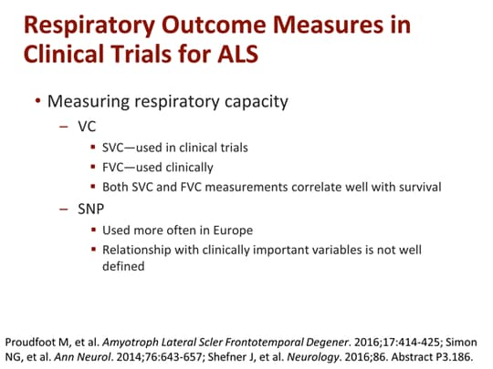 Strategies for Assessing and Preserving Function in ALS