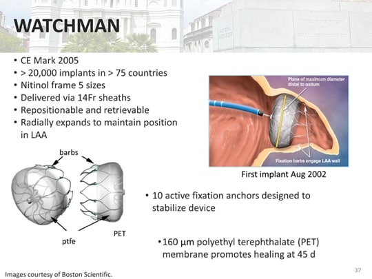 Left Atrial Appendage Closure With the Watchman Device in ...