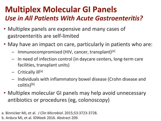 Timely Diagnosis of Gastroenteritis: Implications for