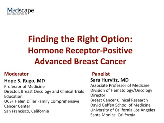Finding the Right Option: Hormone Receptor-Positive Advanced