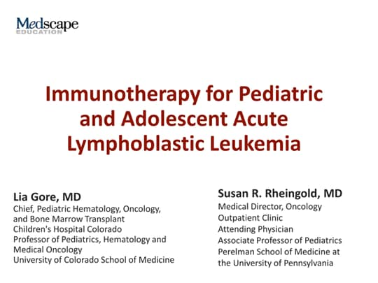 Immunotherapy for Pediatric and Adolescent Acute