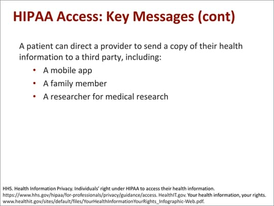 An Individual's Right to Access and Obtain Their Health