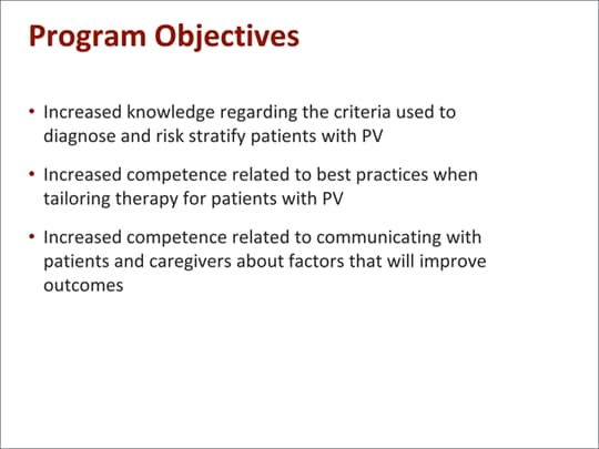 Perspectives on Managing PV for the Nurse Practitioner and