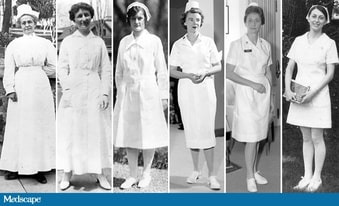 4b447fa36c9 Rising hemlines on nurse uniforms, from the early 1900s (left) to the 1970s  (right). Images courtesy of the US Army Medical Department Office of  Medical ...