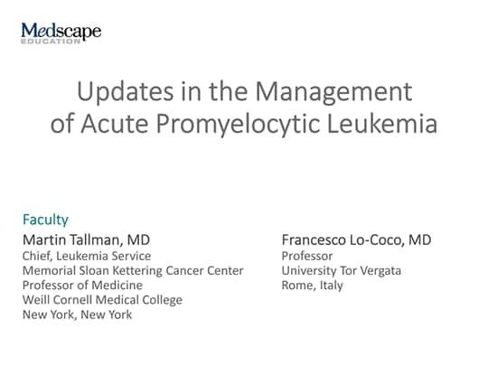 Updates in the Management of Acute Promyelocytic Leukemia