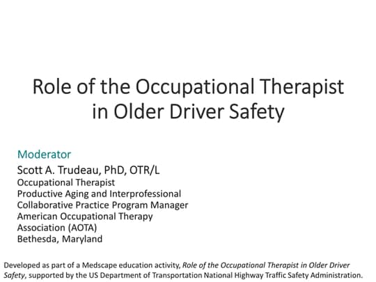 The Role Of The Occupational Therapist In Older Driver Safety